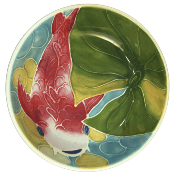 "8"" Coupe Pasta Bowl Tropical Koi Fish"