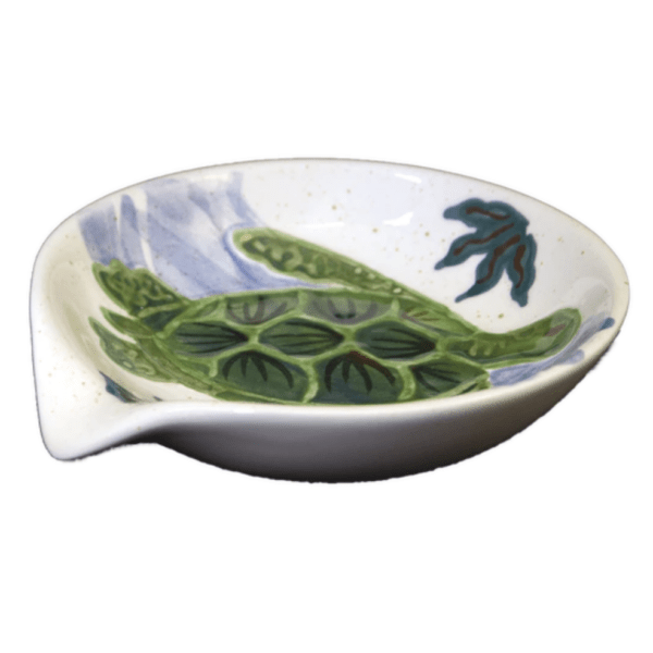 Round Spoon Rest Embossed Honu (Turtle)