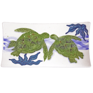 "15"" Swoop Sushi Rectangular Platter Embossed Honu (Turtle)"
