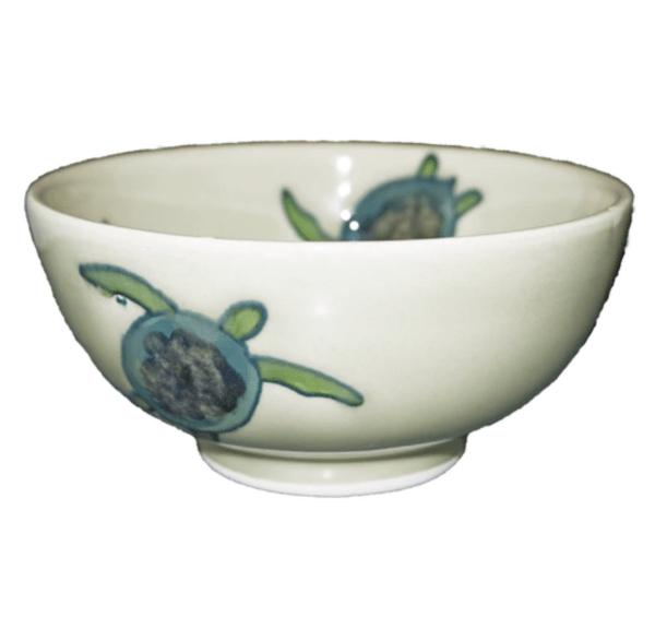 """Celadon Turtles 5"""" Rice Bowl"""
