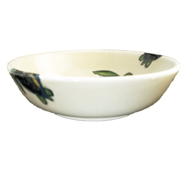 "8"" Coupe Pasta Bowl Celadon Turtles"