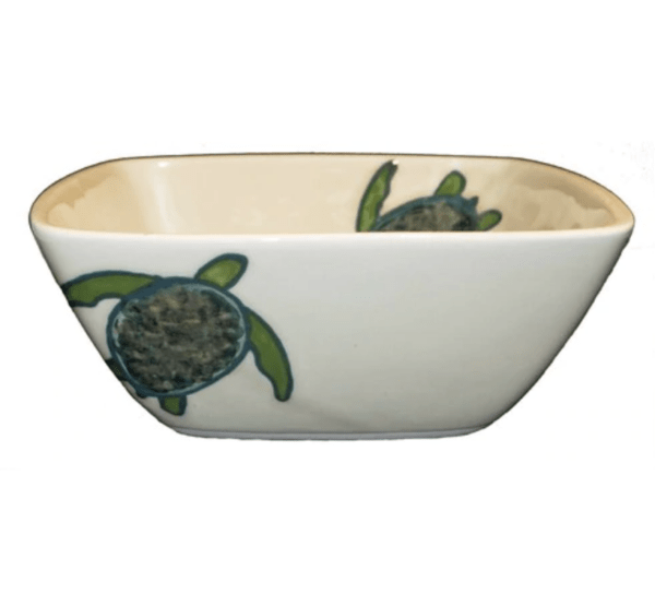 Square Bowl Celadon Turtles