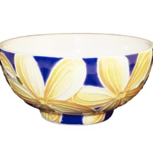 """5"""" Rice Bowl Blue Plumeria"""