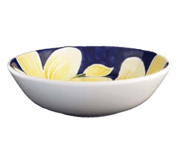 """8"""" Pasta Bowl Blue Plumeria"""