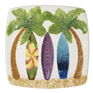 "8"" Square Salad / Dessert Plate Hawaiian Surfboards"