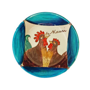 "8"" Coupe Pasta Bowl Blue Rooster"
