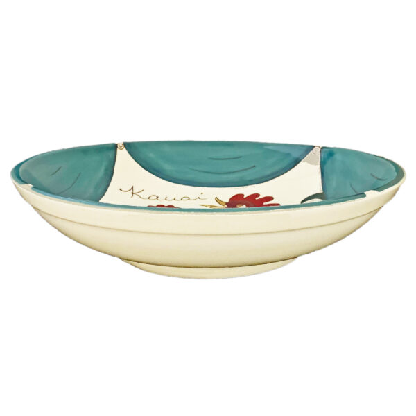 """12"""" Pasta Bowl Blue Rooster"""