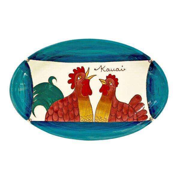 oval platter Blue Rooster 3036