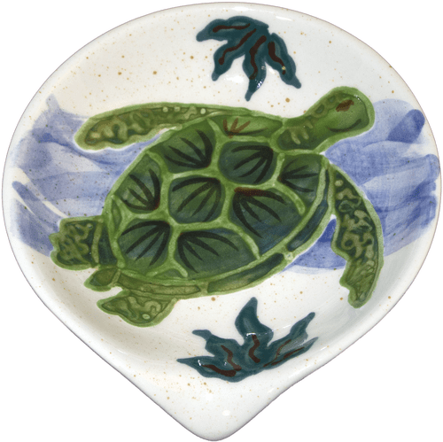 Rd. Spoon Rest Embossed Honu (Turtle)