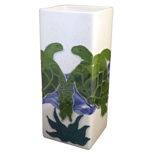 Embossed_Honu_square_vase