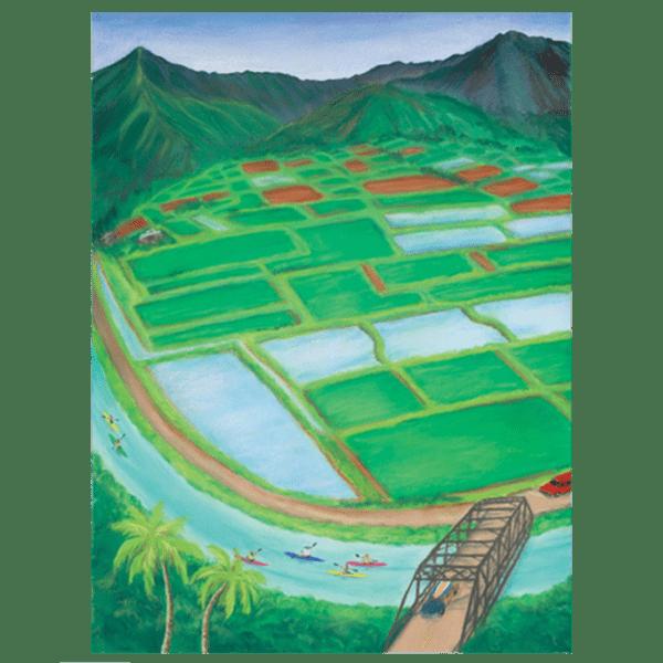 Hanalei Taro Fields Giclée