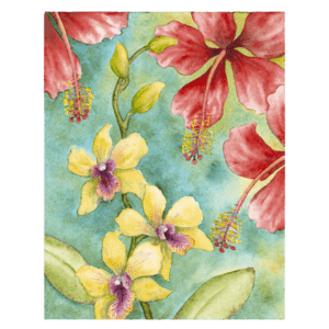 Orchids & Hibiscus Giclée