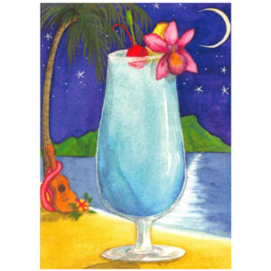 Blue Hawaii Note Card