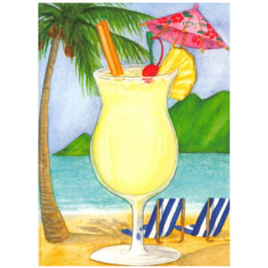 Pina Colada Note Card