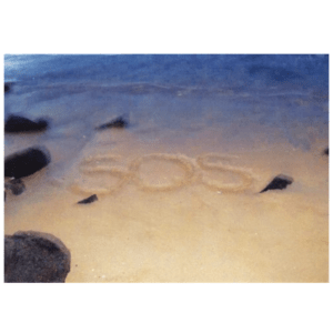SOS (Pakala Beach) Greeting Card