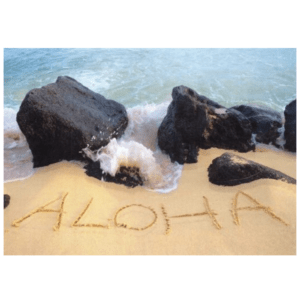 Aloha (Waiohai Point) Greeting Card