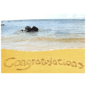 Congratulations (Poipu Beach) Greeting Card