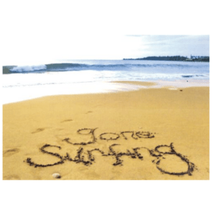 Gone Surfing (Waimea Beach) Greeting Card