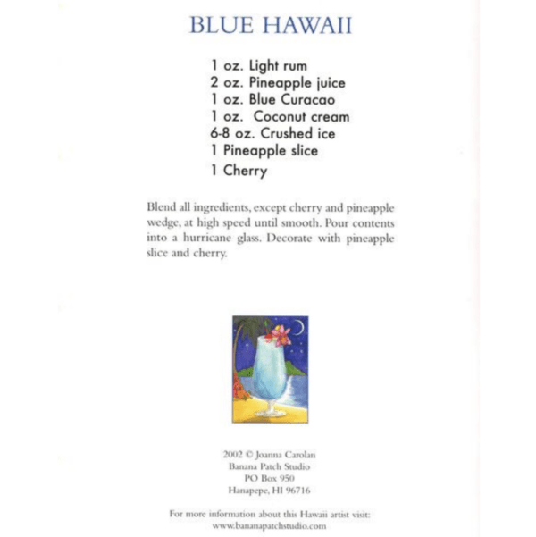 Blue Hawaii Note Card Recipe