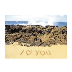 I Love You (Salt Pond Beach) Greeting Card