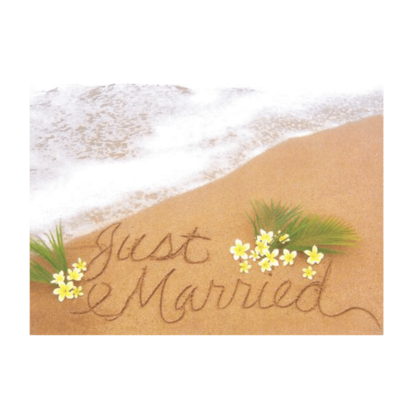 Just Married (Kaumakani Beach) Greeting Card