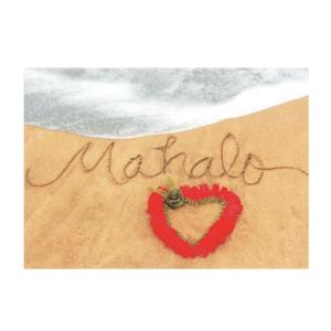Mahalo (Kaumakani Beach) Greeting Card