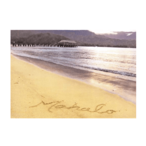 Mahalo (Hanalei Pier) Greeting Card