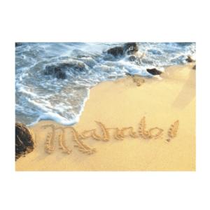 Mahalo (Ke'e) Greeting Card
