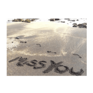 Miss You (Glass Beach) Greeting Card