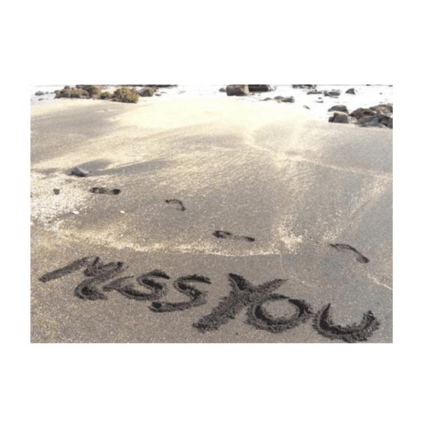 Miss You (Glass Beach) Greeting Card