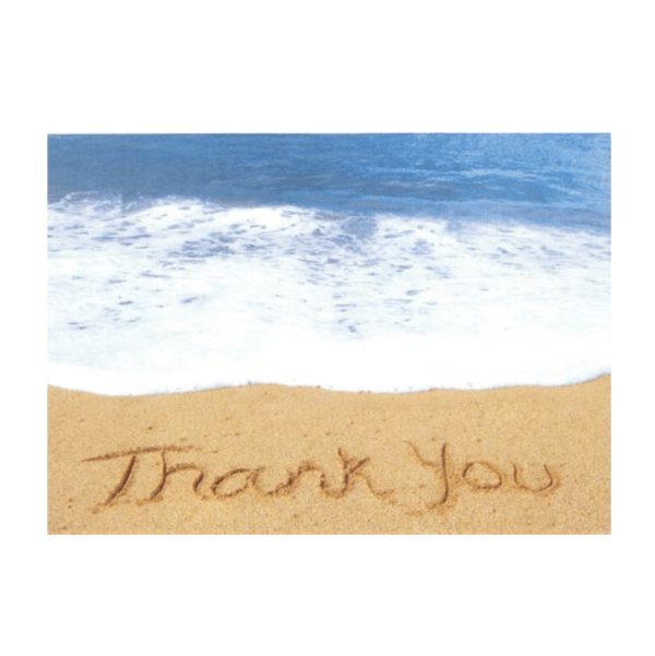 Thank You (Lumahai Beach) Greeting Card