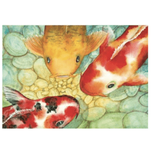 Conversation Greeting Card koi fish