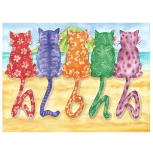 Aloha Kitties Greeting Card
