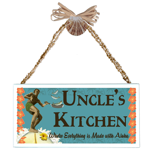 Uncle's Kitchen Varnished Canvas Sign