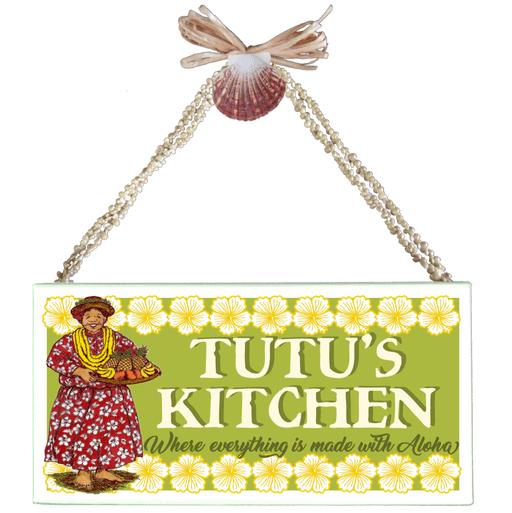 Tutu's Kitchen Varnished Canvas Sign
