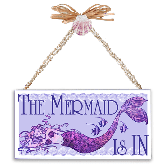 Mermaid is In Varnished Canvas Sign