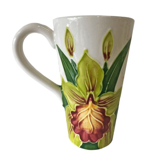 Cone Mug 16oz Tropical Bouquet II
