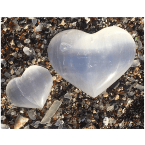 Selenite Heart – Aloha from Kauai!