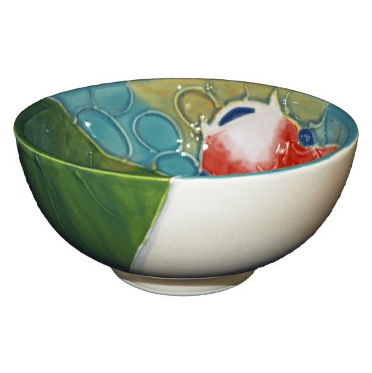 "5"" Rice Bowl Tropical Koi Fish"