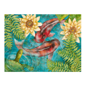 Koi Among Ferns Giclée