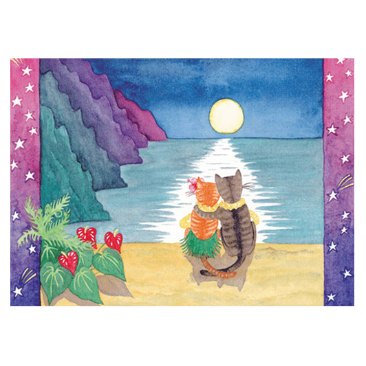 Na Pali Moon Print