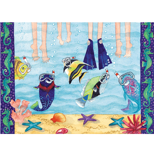 Snorkelers Print