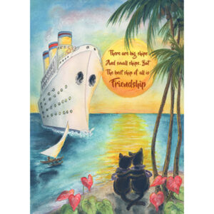Big Ship, Small Ship Greeting Card