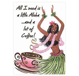 hula coffee magnet