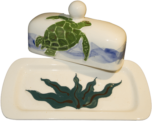 Butter Dish Embossed Honu (Turtle)