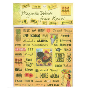magnet words kauai yellow