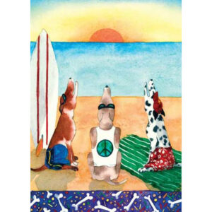 Surf Dogs Greeting Card