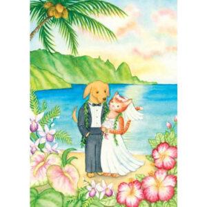 Hawaii Wedding Greeting Card