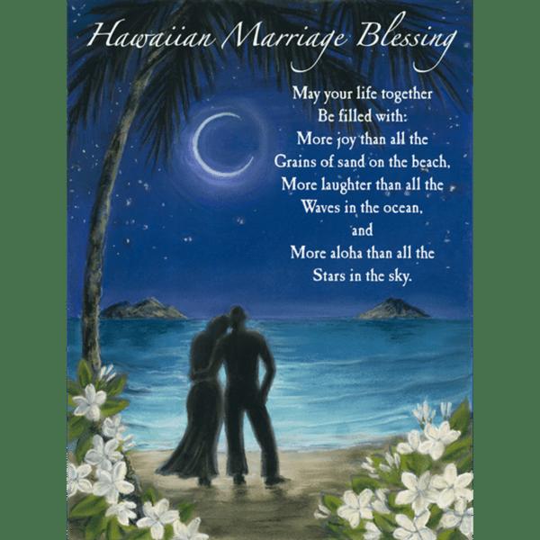 Hawaiian Marriage Blessing Print