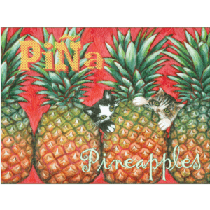 Pineapple Kittens Print